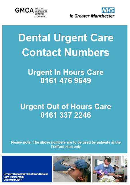 Dental Urgent Care Contact Numbers
